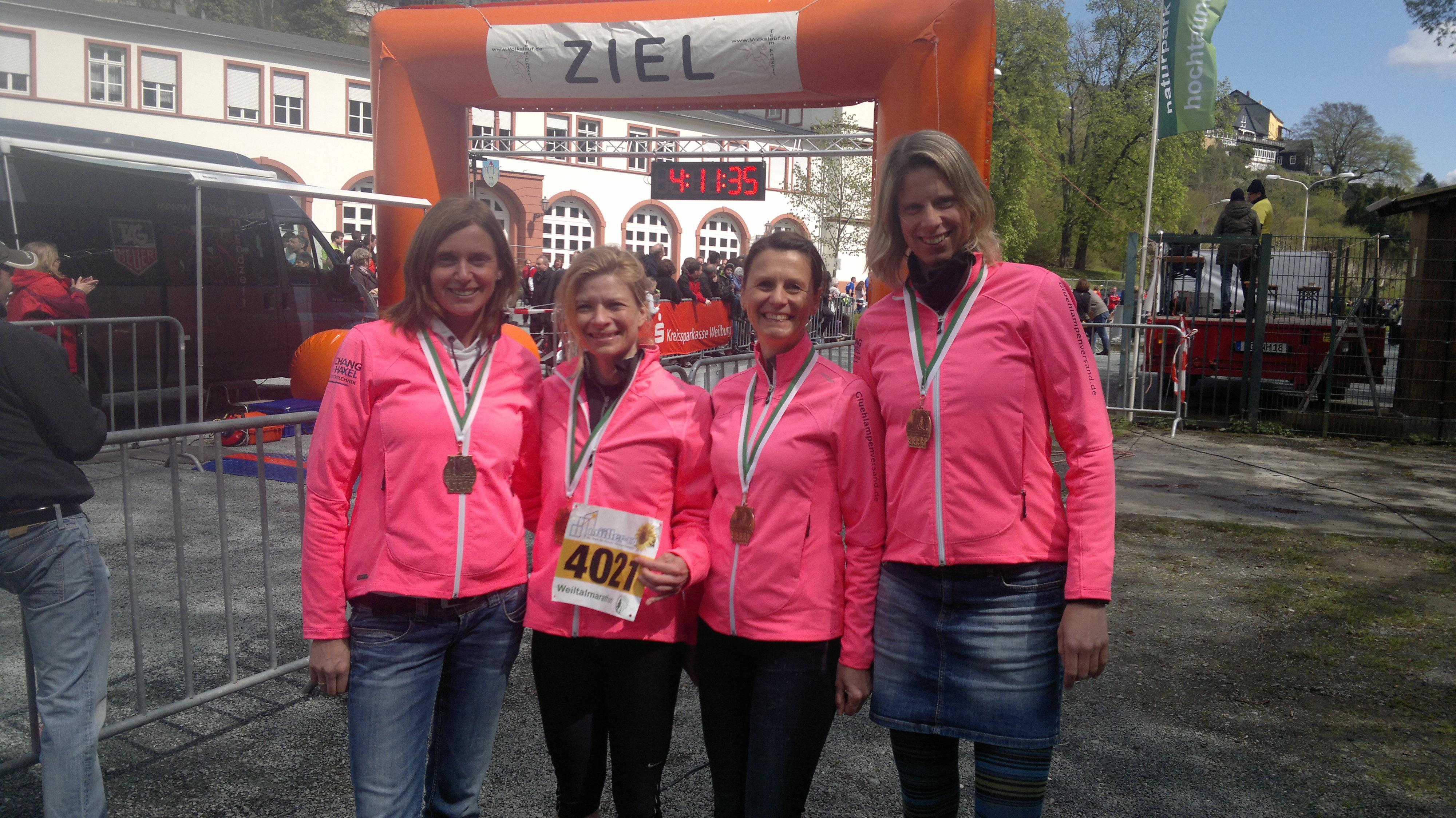 LG Siegeringen beim Weiltal-Marathon