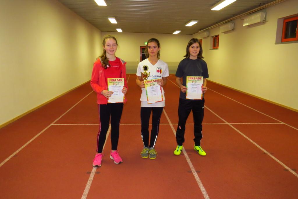 Erfolgreiche Sprinterinnen (v.l.): Leonie Orth, LG Dornburg; Kim Eidam, TG Camberg; Greta Müller, LG Dornburg