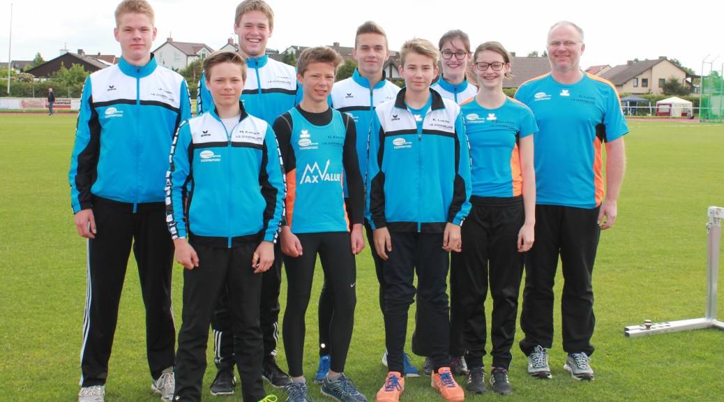 Erfolgreiches Mehrkampf-Team in Limburgerhof