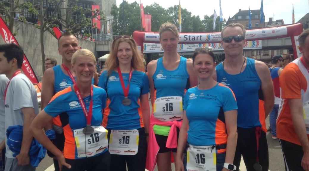 In Mainz erfolgreich: Andreas Pohl, Siegrid Mayer, Ria Weber Mack, Katja Gasteier, Bettina und Thomas Klink