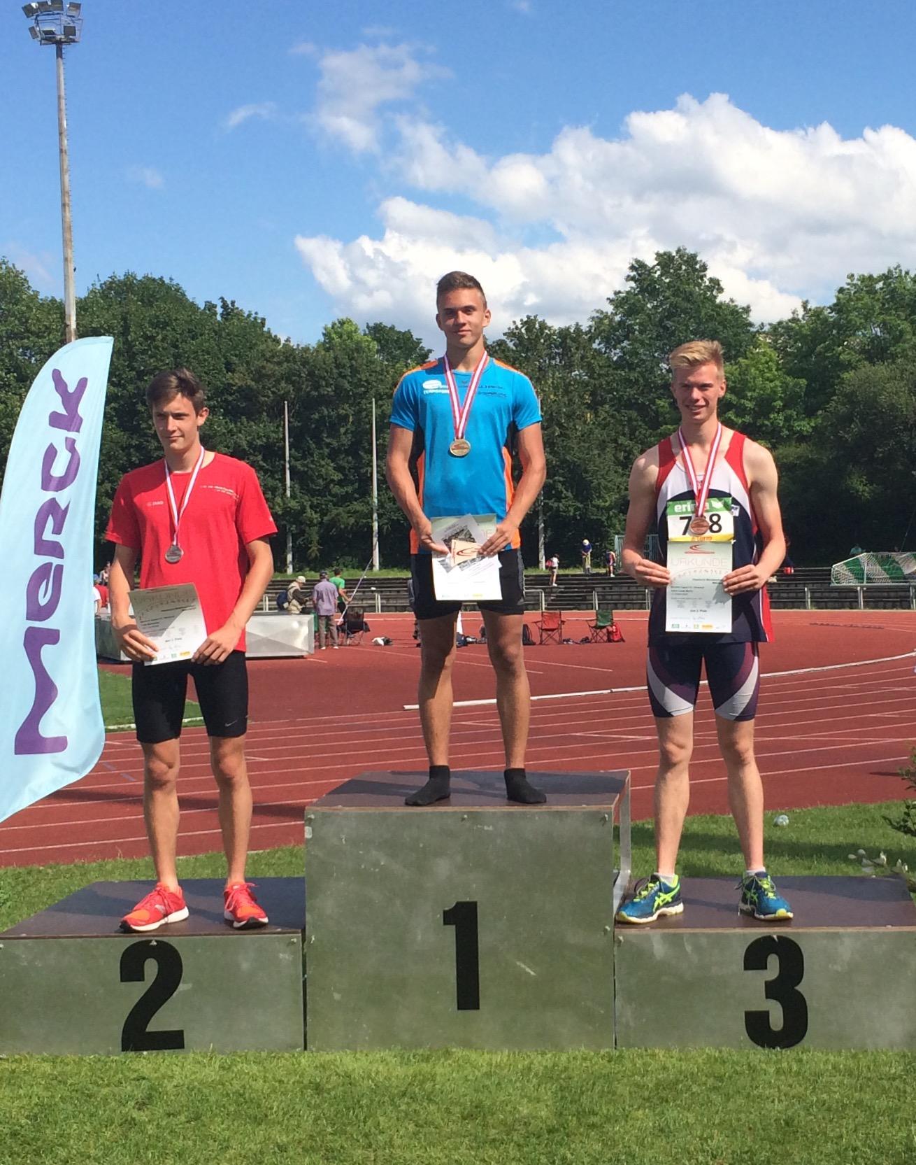 Justus Hänsel - Hessischer Meister im Fünf- und Zehnkampf