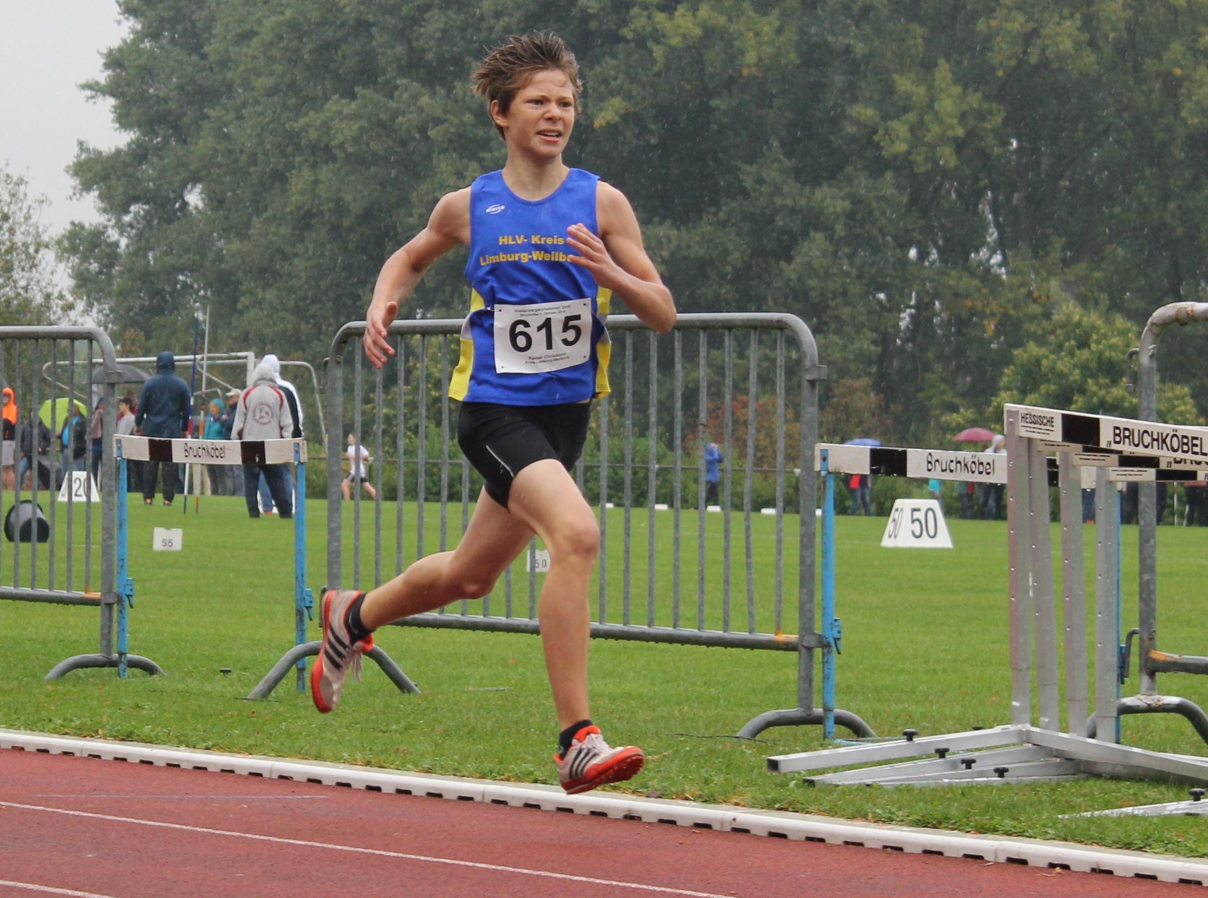Cristano Kaiser, Sieger über 800m in neuer Kreisrekordzeit